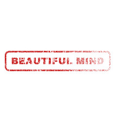 beautiful mind rubber stamp vector image