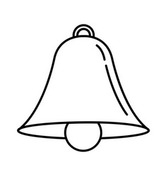 bell outline icon alarm vector image
