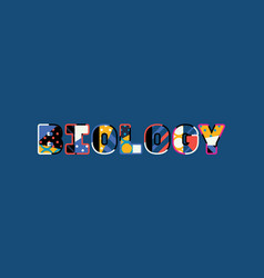 biology concept word art vector image