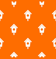 birdhouse pattern seamless vector image