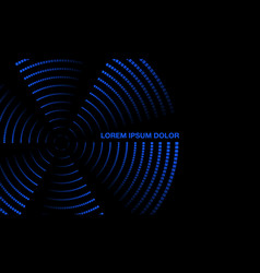 blue neon rotating propeller banner vector image
