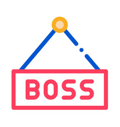 boss nameplate icon outline vector image