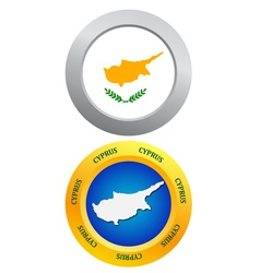 button as a symbol CYPRUS vector image