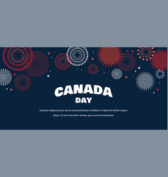 celebrate banner of the national day of canada vector image