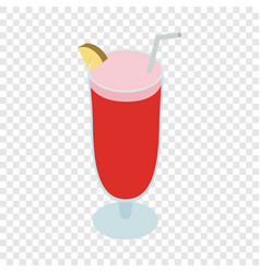 Cocktail singapore sling isometric icon vector