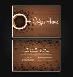 Coffee visit card coffee design coffee day cup vector