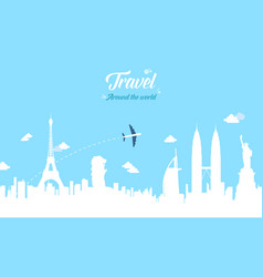 Collection stock travel on the world vector