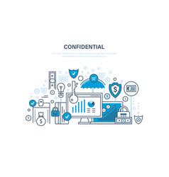 Confidential information protection of data vector