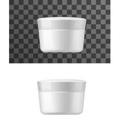 Cream jar white tube isolated mockup vector