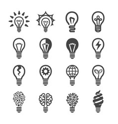 creative light bulb icon vector image