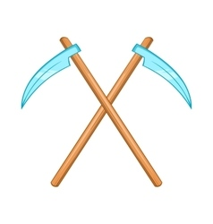 Death scythe icon cartoon style vector