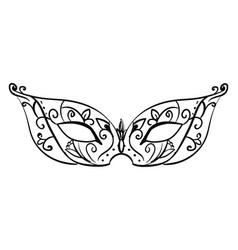 decorative mask on white background vector image