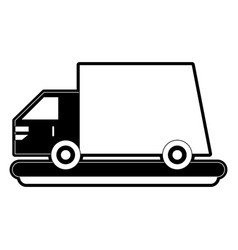 Delivery truck symbol vector