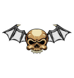 dracula head skull with with small vector image