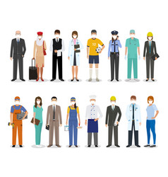 employee and workers characters together wearing vector image