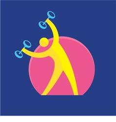 Fitness Sign - Logo Symbol - Sport Activity vector