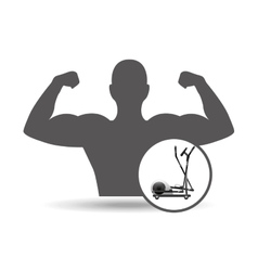 fitness silhouette elliptical machine gym graphic vector image