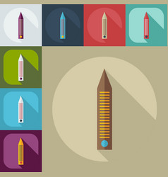 Flat modern design with shadow icons nail file vector