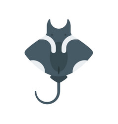 flat style of stingray vector image