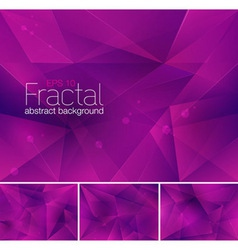 Fractal purple vector