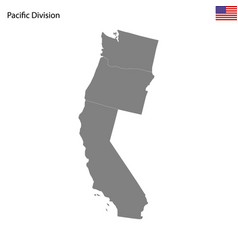 High quality map pacific division united vector