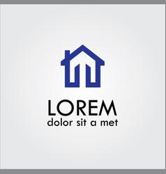 home letter m logo vector image