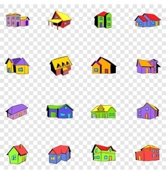 House set icons vector