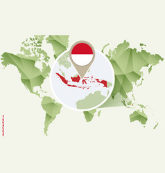 Infographic for indonesia detailed map vector