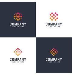 inspirational gradient logo bundle vector image