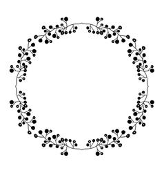 Isolated flowers wreath design vector