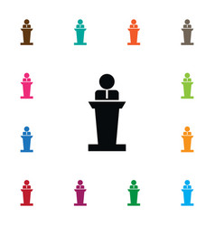 Isolated orator icon lecturer element can vector