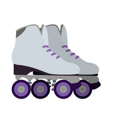 Isolated roller skates vector