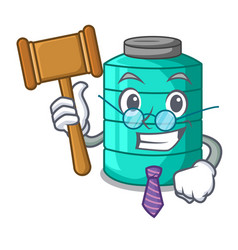 Judge cartoon water tank for in agriculture vector