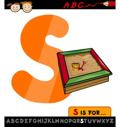 letter s with sandbox cartoon vector image