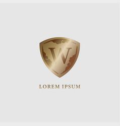 Letter w alphabet logo design template luxury vector