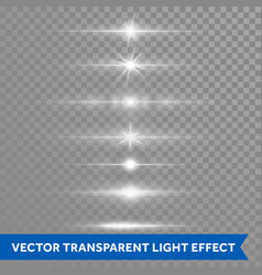 light effect or star shine lens flare isolated vector image
