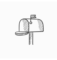 Mail box sketch icon vector image