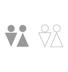 man and woman it is black icon vector image