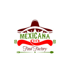 mexican food factory icon vector image