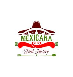 mexicana food factory icon vector image