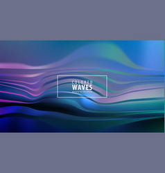 modern colorful flow poster wave liquid shape in vector image