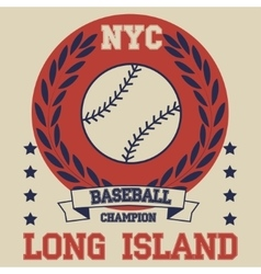 New york Brooklyn baseball typography t-shirt vector image