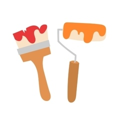 Paint brushes isolated vector