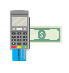payment by terminal vector image