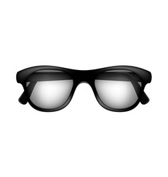 Retro glasses in black design vector