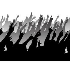 rock crowd vector image