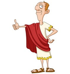 Roman emperor with thumb up vector