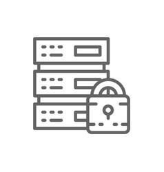 safe server protected data center web hosting vector image