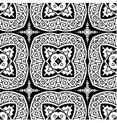 seamless patchwork pattern from black and white vector image