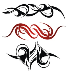 Set of 3 different tribal tattoo vector image